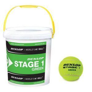 Dunlop Stage 1 Green BallS (cesto da 60 palle)-0