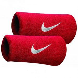 Nike Swoosh Double-Wide Wristbands Polsini da Tennis - TennisCornerShop